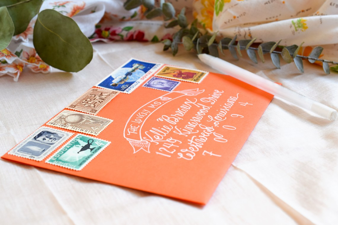 Faux Calligraphy Envelope | The Postman's Knock