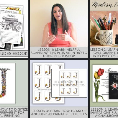 The Digitizing Artwork and Calligraphy eCourse Has Arrived!