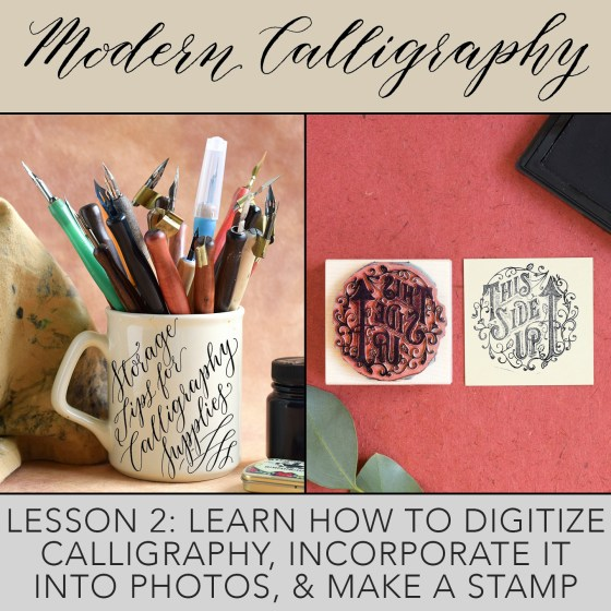Digitizing Artwork and Calligraphy eCourse | The Postman's Knock
