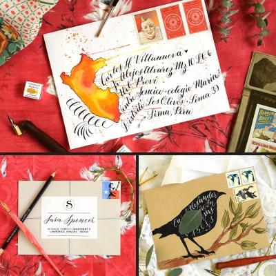 Three Decorated Envelopes Mini-Tutorials