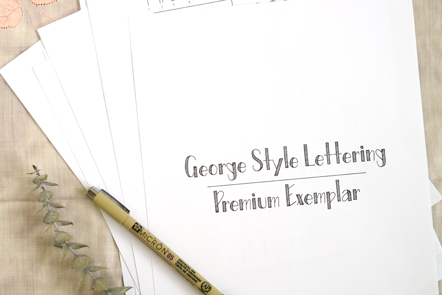 """""""George Style"""" Printable Hand-Lettering Exemplar 