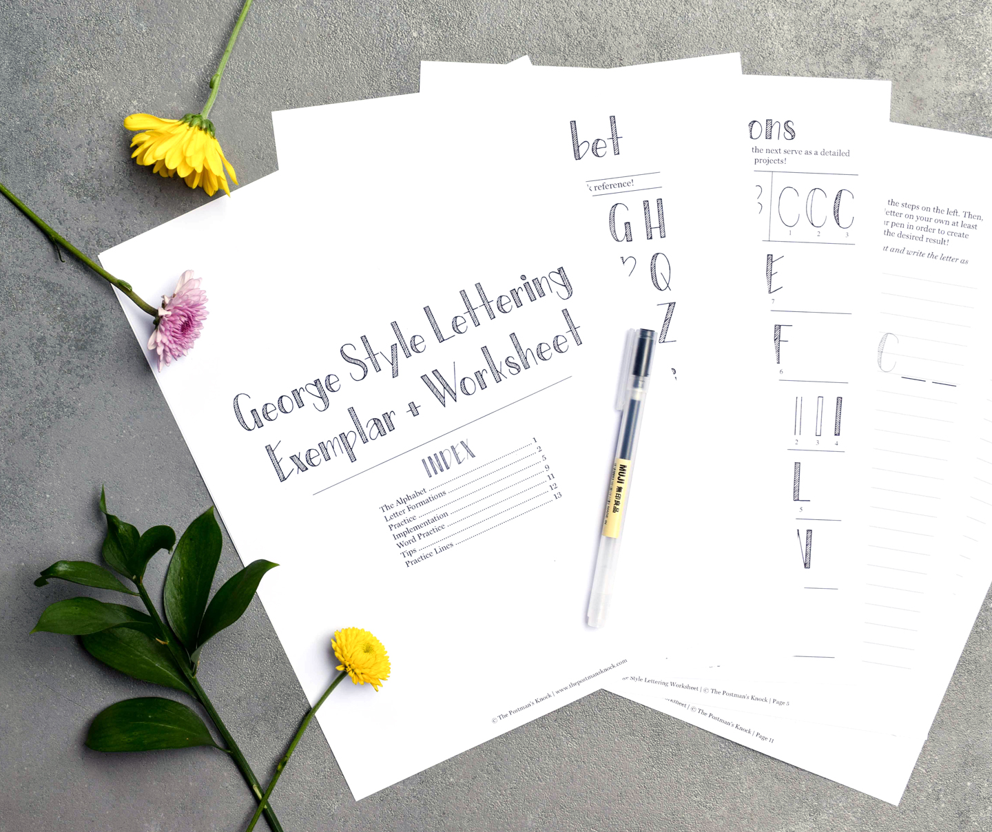 George Style Lettering Worksheet | The Postman's Knock