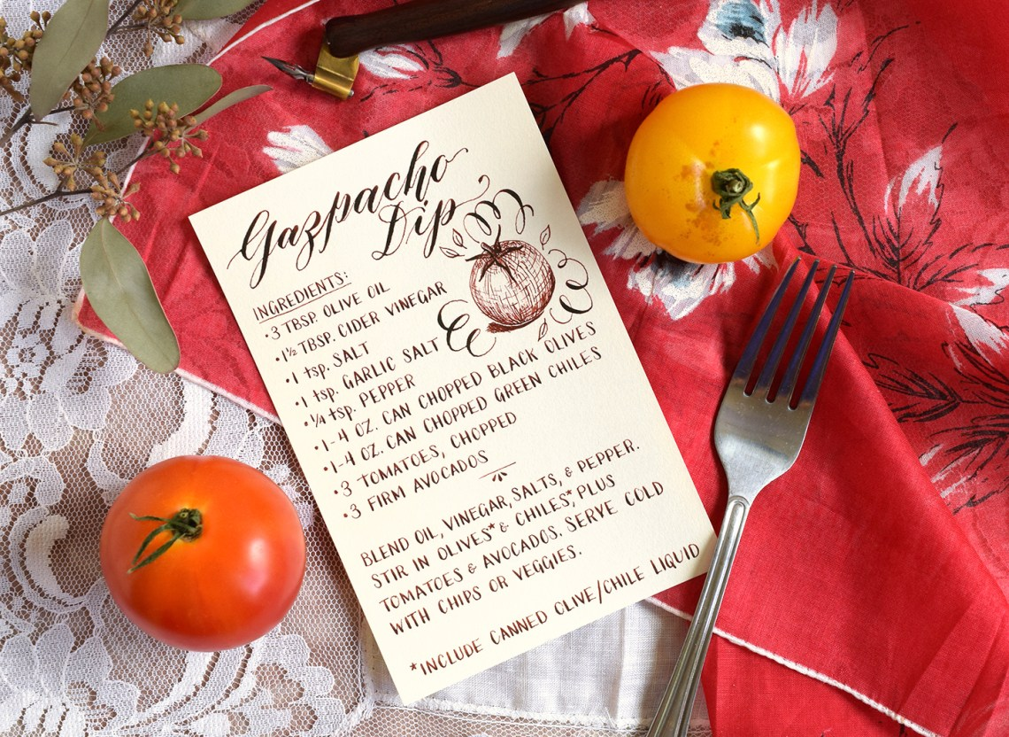 Simple Handwritten Recipe Card Tutorial | The Postman's Knock