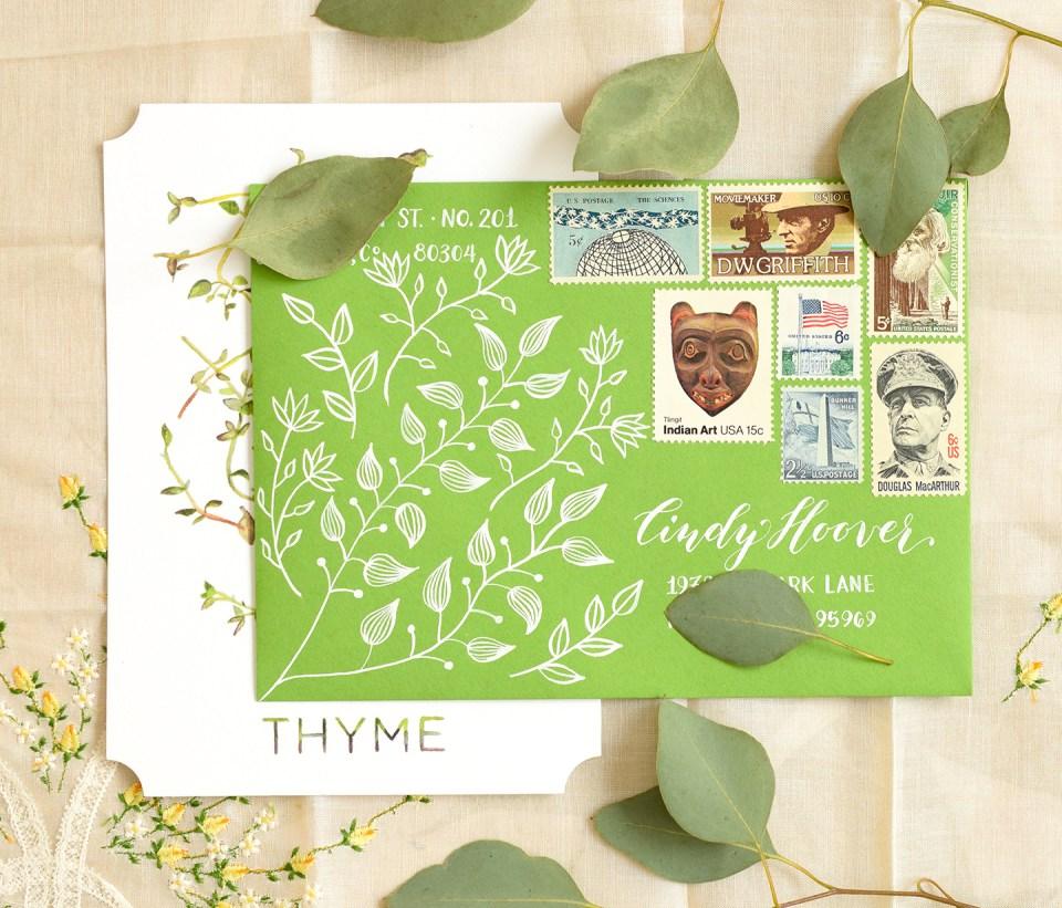 Botanical Envelope | The Postman's Knock