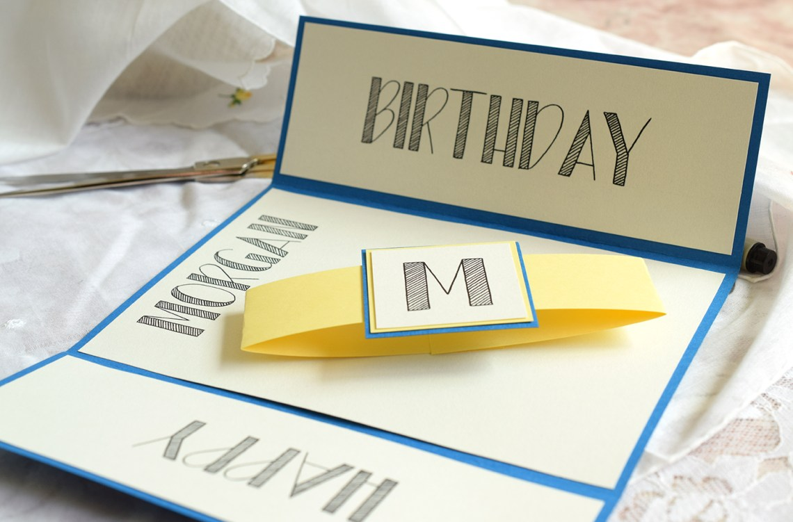 Lettered Handmade Birthday Card Tutorial | The Postman's Knock