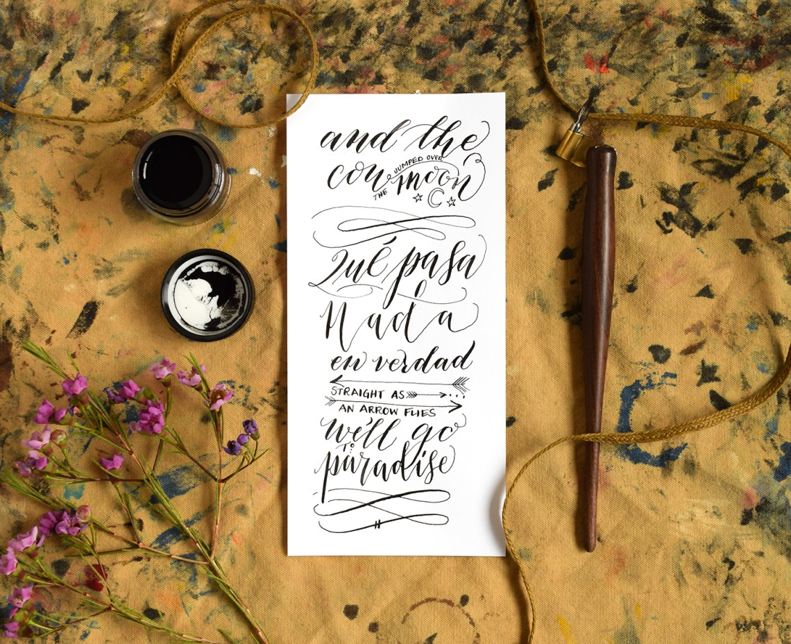 Calligraphy on 32# Laserjet Paper | The Postman's Knock