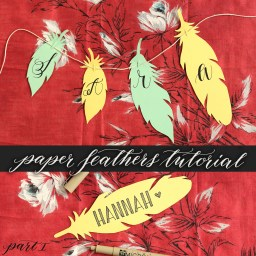 Paper Feathers Tutorial | The Postman's Knock