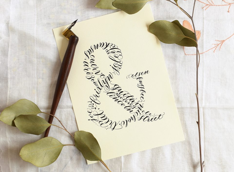 Calligraphy Ampersand Art | The Postman's Knock