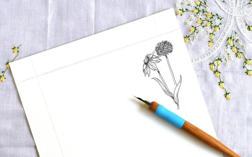Simple Flower Border Tutorial | The Postman's Knock