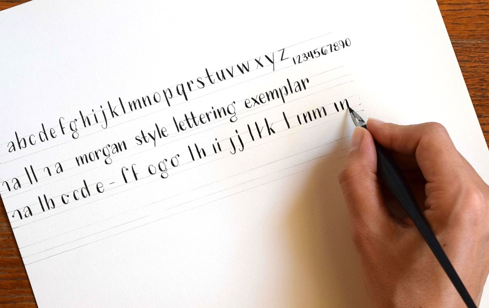 Morgan Style Free Hand-Lettering Exemplar | The Postman's Knock