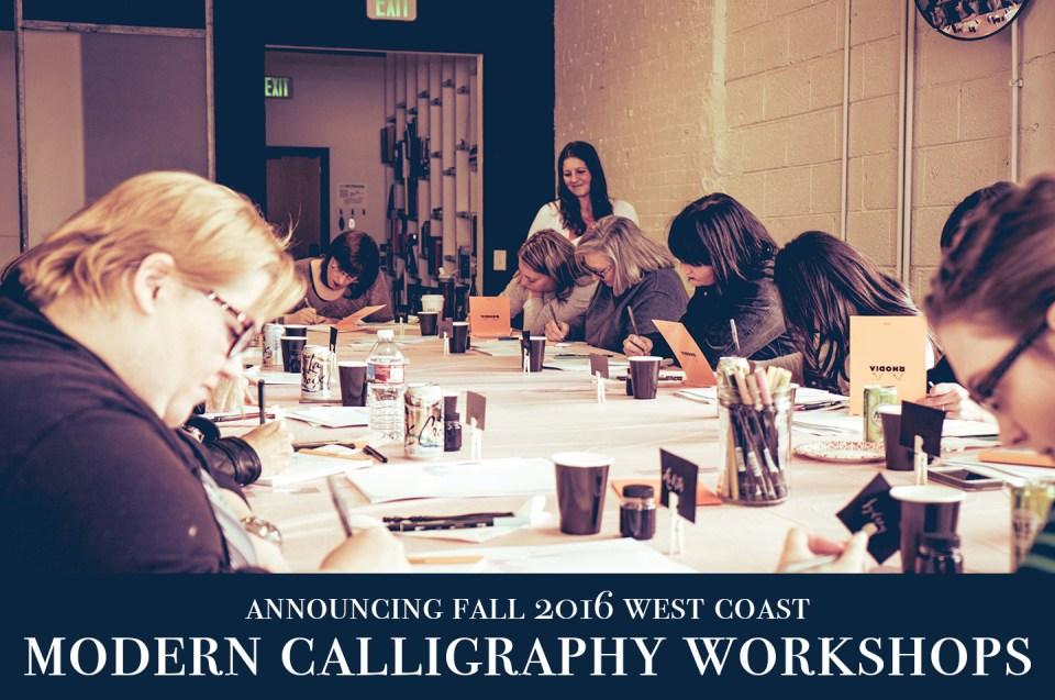 Fall West Coast Modern Calligraphy Workshops   The Postman's Knock