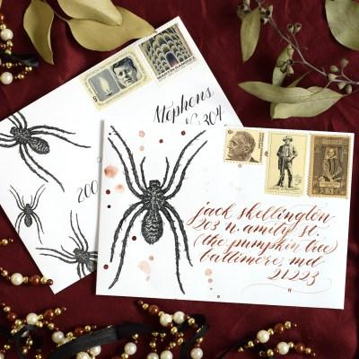 Spider Halloween Mail Art Printables