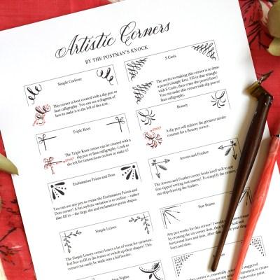 10 Artistic Corner Designs (Includes Free Printable)