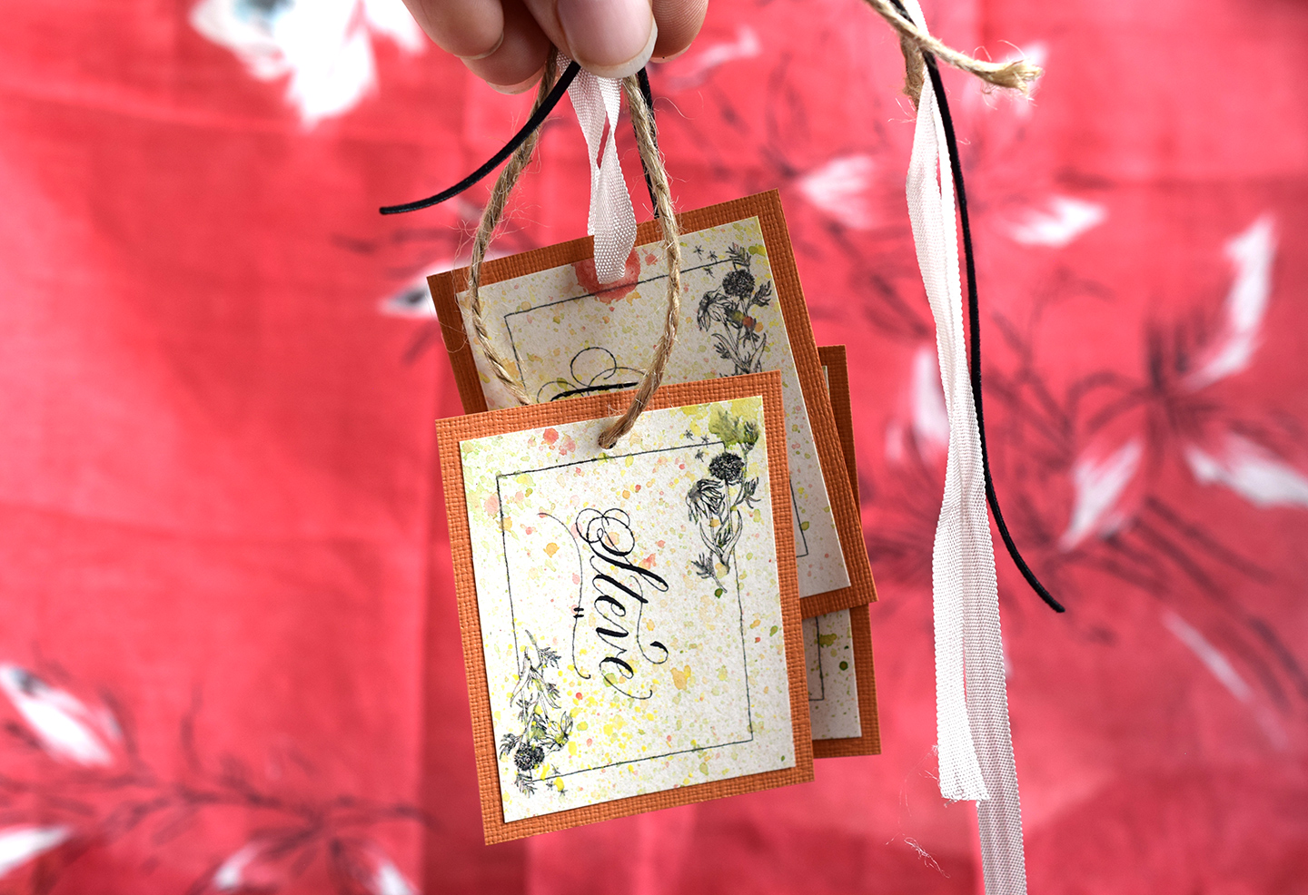 Printable Floral Artistic T Tags Template