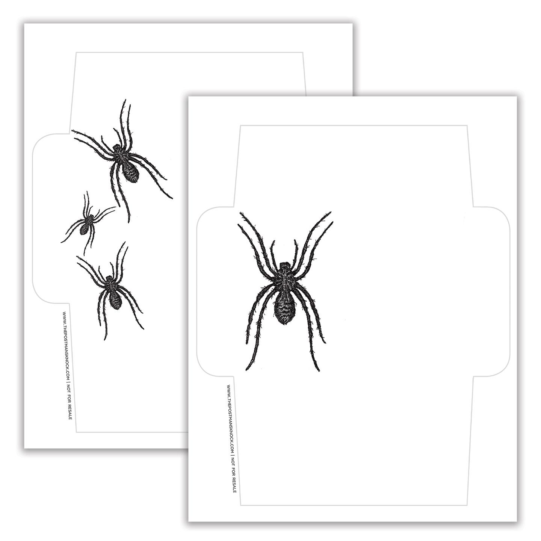 photo relating to Printable Envelopes referred to as Spider Halloween Deliver Artwork Printable Envelopes