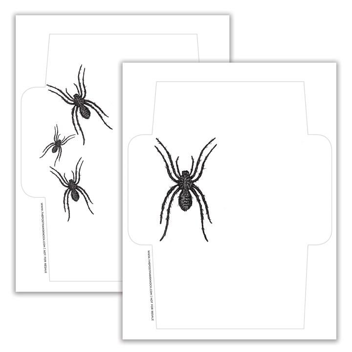Spider Halloween Mail Art Printable Envelopes | The Postman's Knock