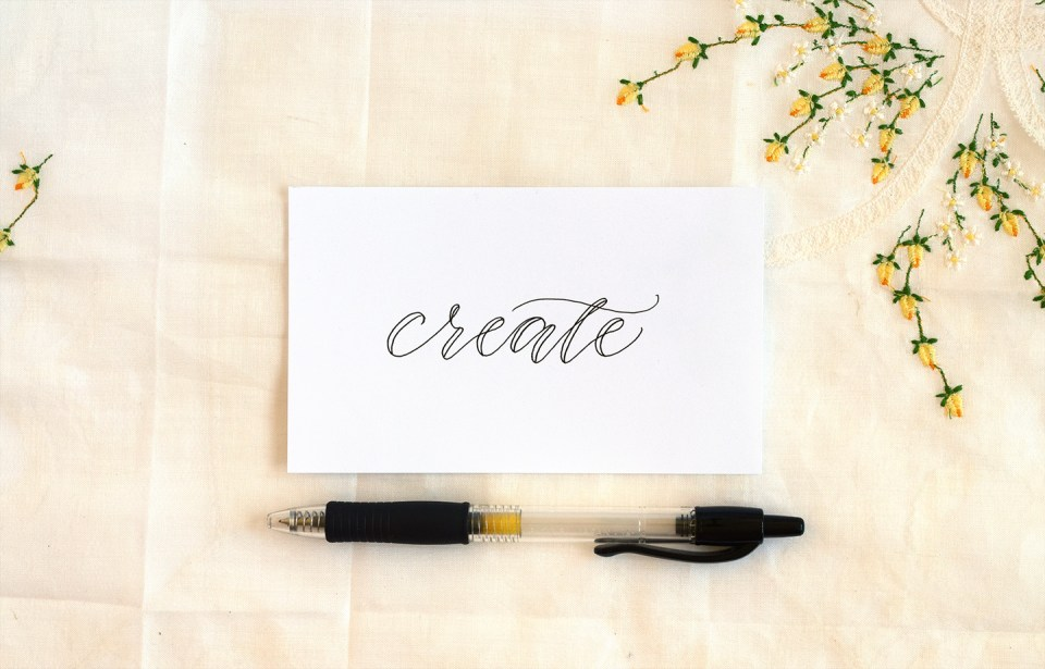 How to Make Faux Calligraphy   The Postman's Knock