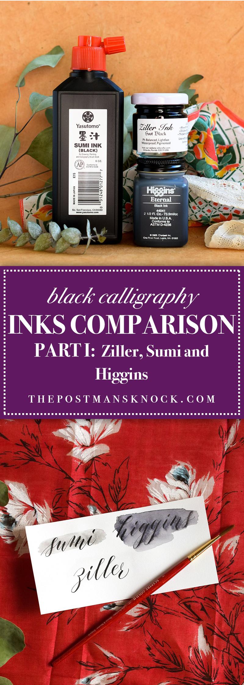 Black Calligraphy Inks Comparison Part I Ziller Sumi