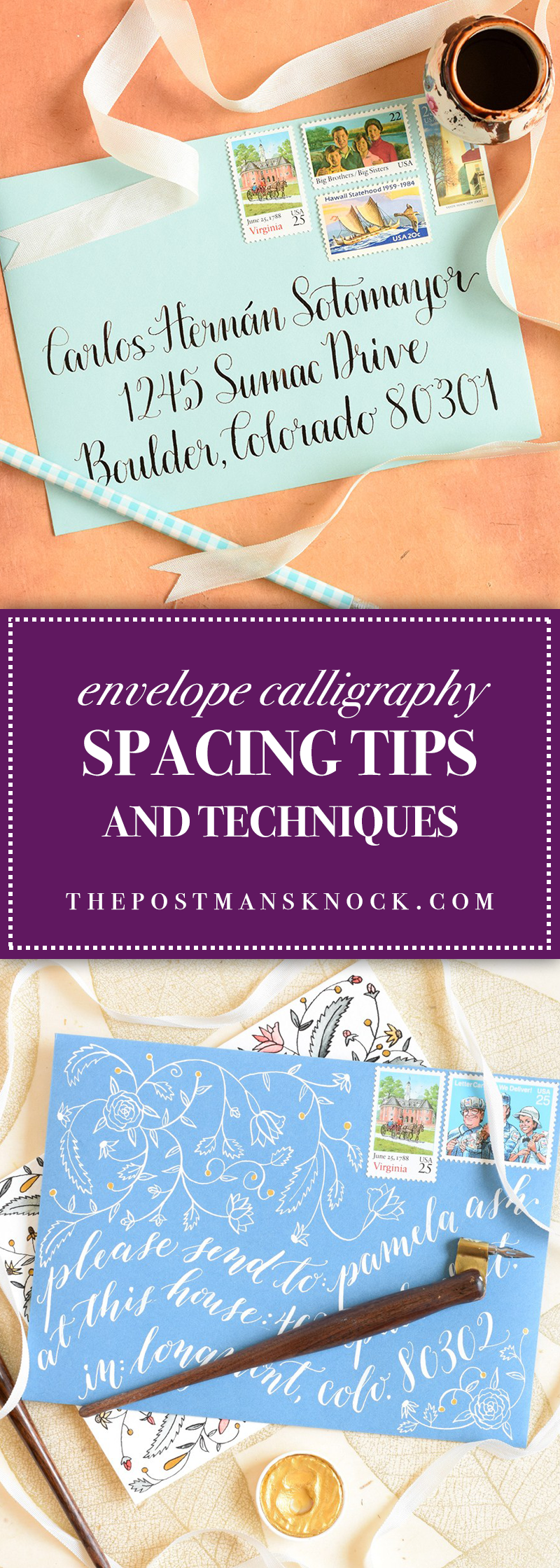 Envelope calligraphy spacing tips and techniques the