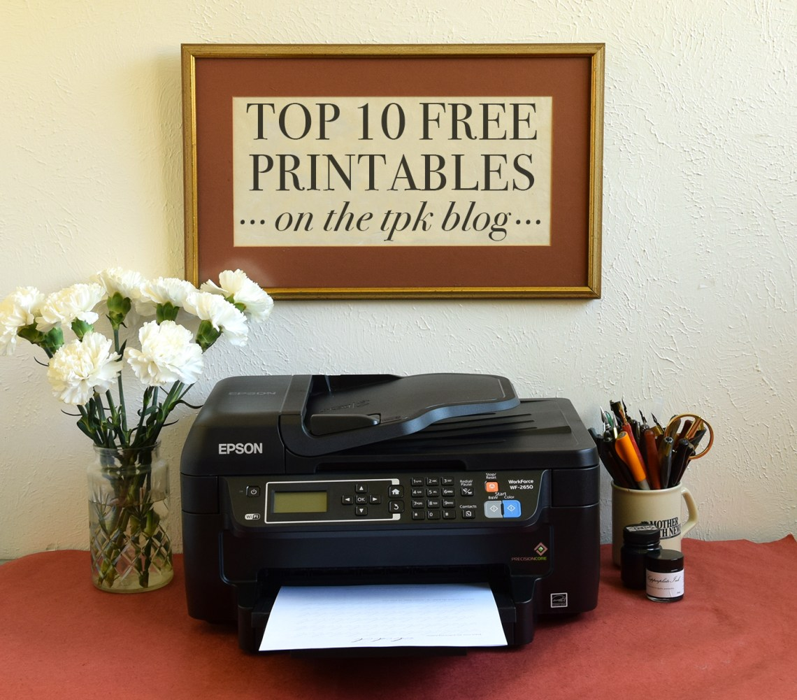 Top 10 Free Printables on the TPK Blog   The Postman's Knock