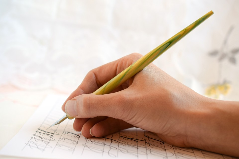 How to Hold a Calligraphy Pen | The Postman's Knock