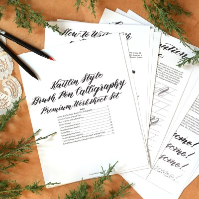 Introducing TPK's First Brush Pen Calligraphy Worksheet Set
