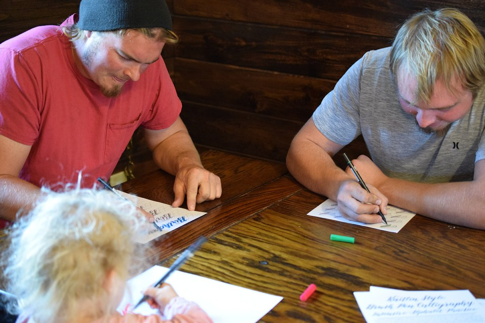 Brush Pen Calligraphy | The Postman's Knock