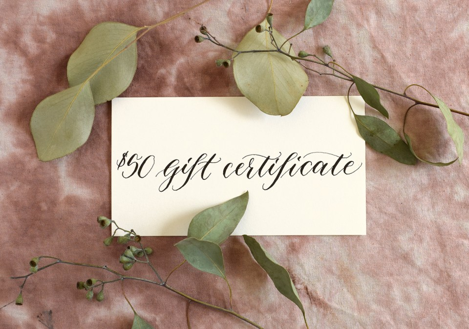 $50 Gift Certificate | The Postman's Knock