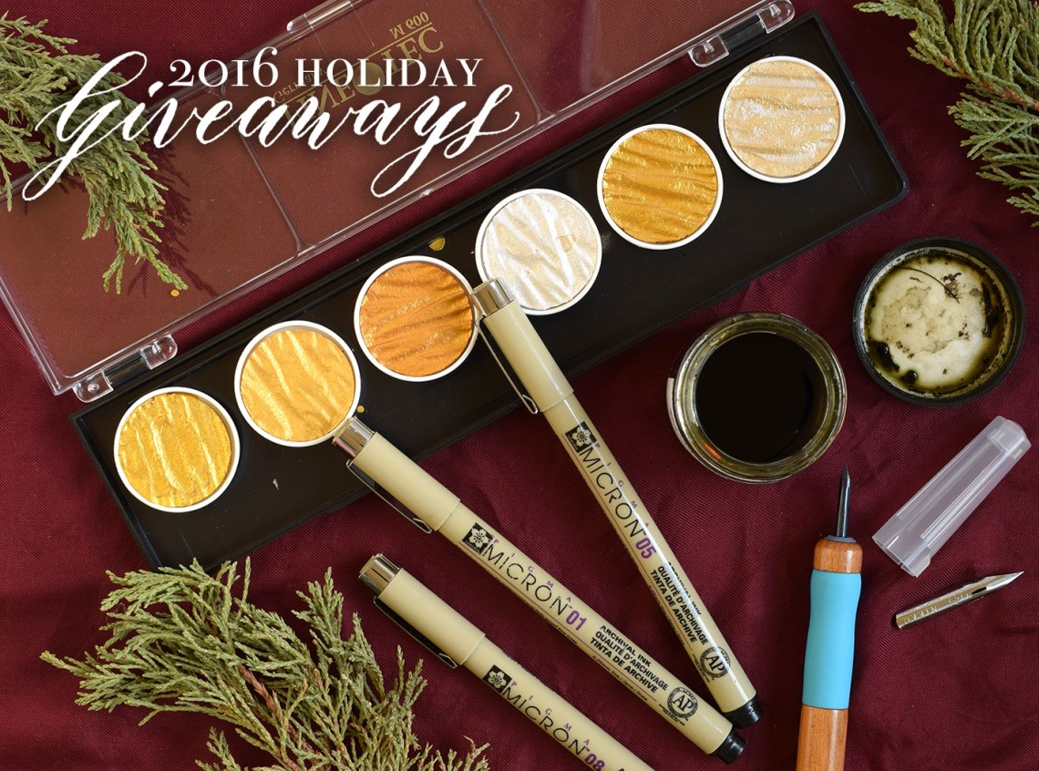 Holiday Art + Calligraphy Giveaways   The Postman's Knock