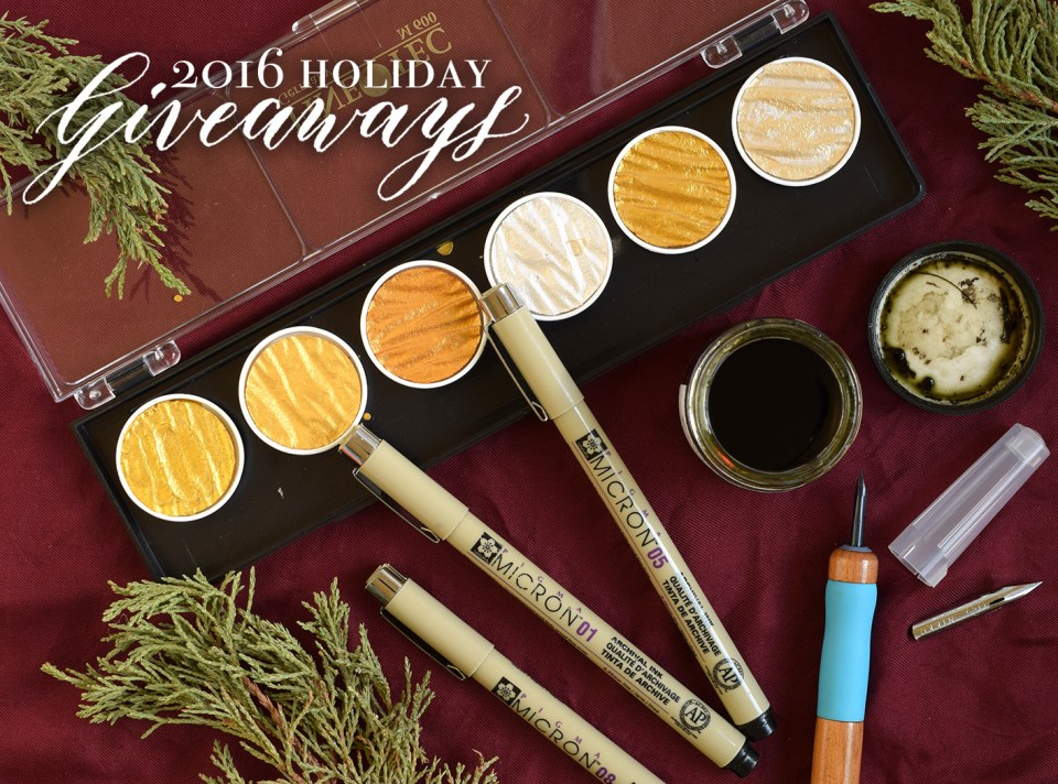 Holiday Art + Calligraphy Giveaways | The Postman's Knock
