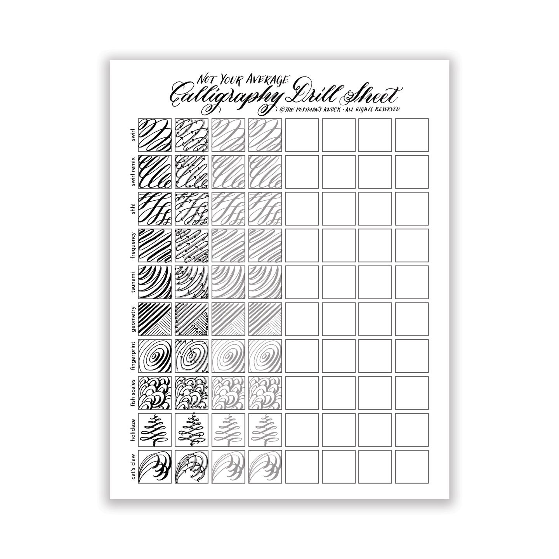 photo relating to Calligraphy Printable named Printable \