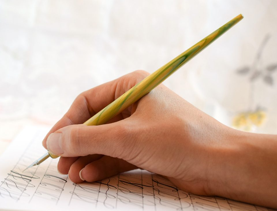 Holding a Calligraphy Pen | The Postman's Knock