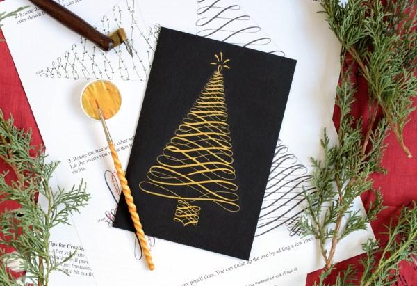 Holiday Calligraphy Printable Exemplar + Worksheet   The Postman's Knock