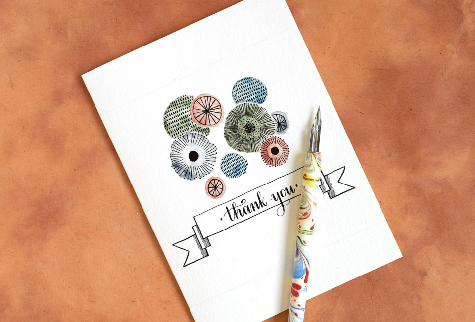 Retro Floral Thank You Card Tutorial | The Postman's Knock
