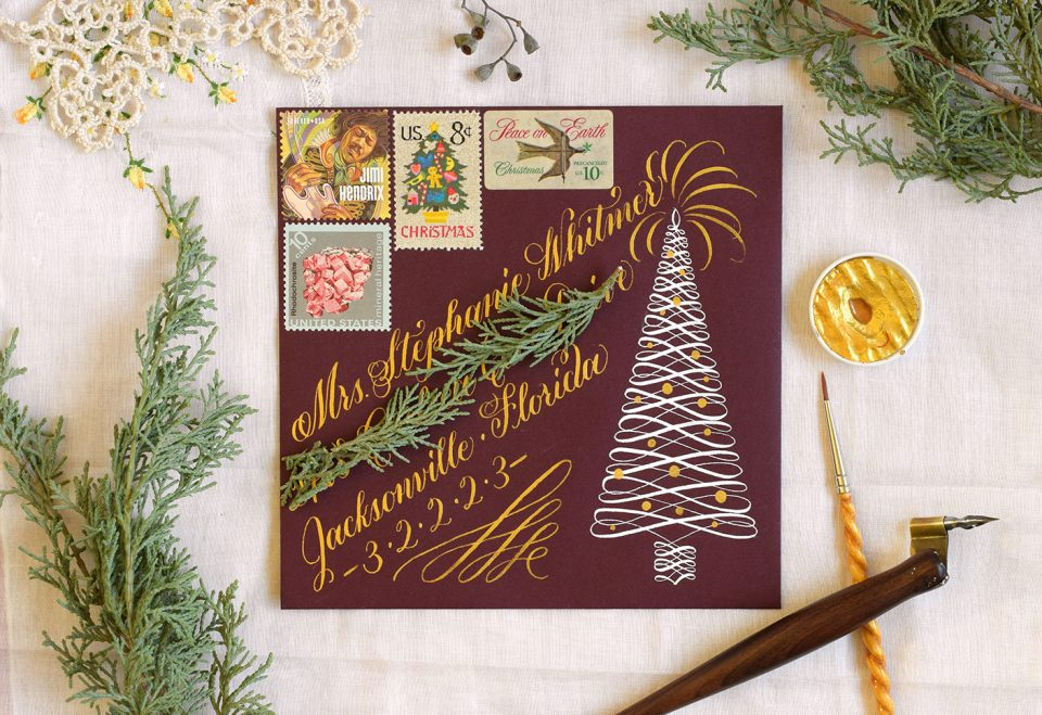 Beautiful Holiday Envelope | The Postman's Knock