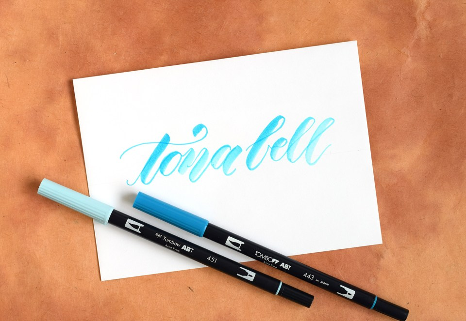 Two more artistic brush pen lettering tutorials the
