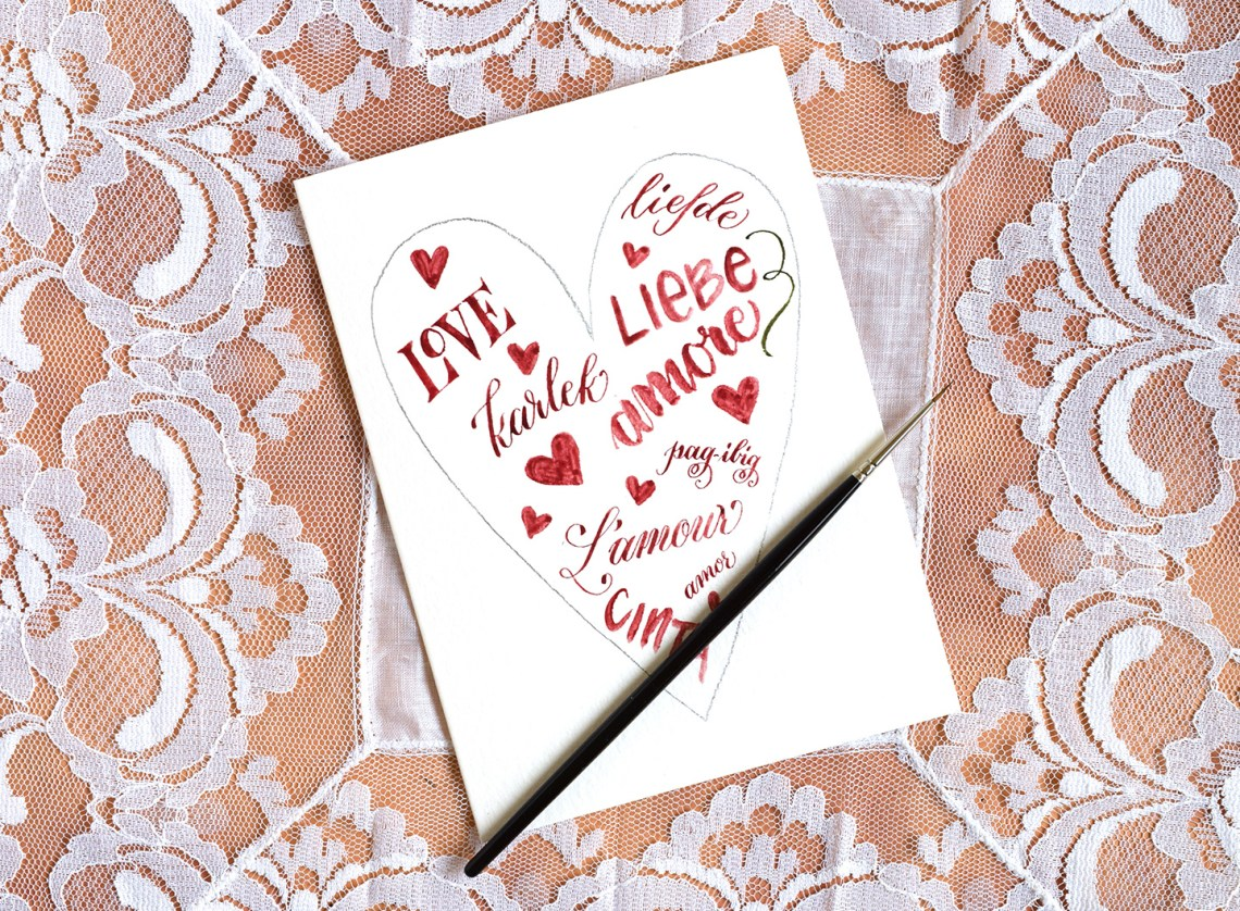 Words and Vines Valentine's Day Card Tutorial   The Postman's Knock