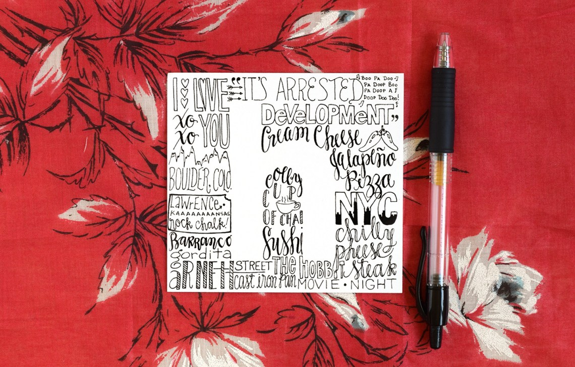 Simple Lettering Art Tutorial | The Postman's Knock
