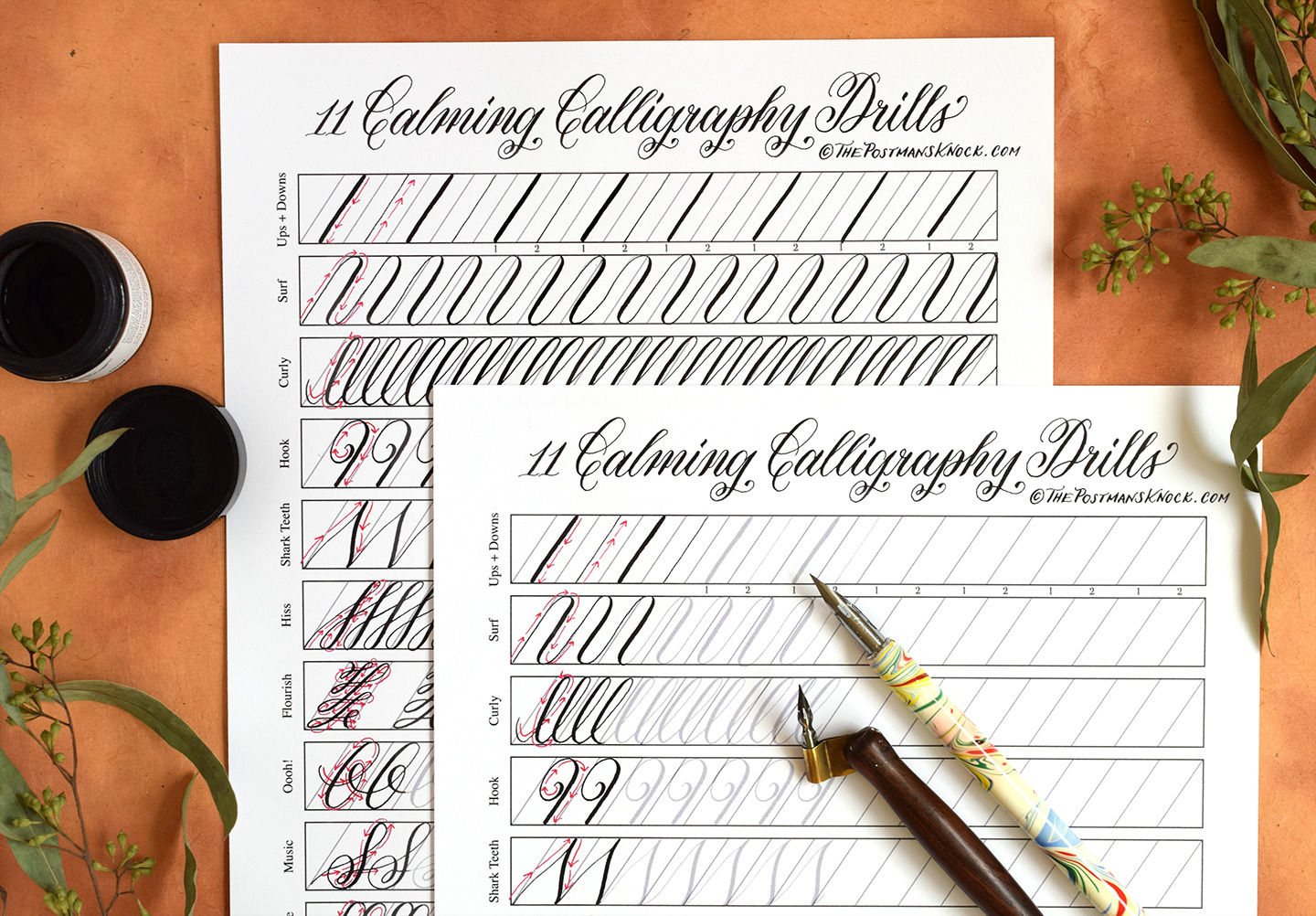 graphic regarding Whos on First Script Printable identified as 11 Comforting Calligraphy Drills Printable (Cost-free Obtain