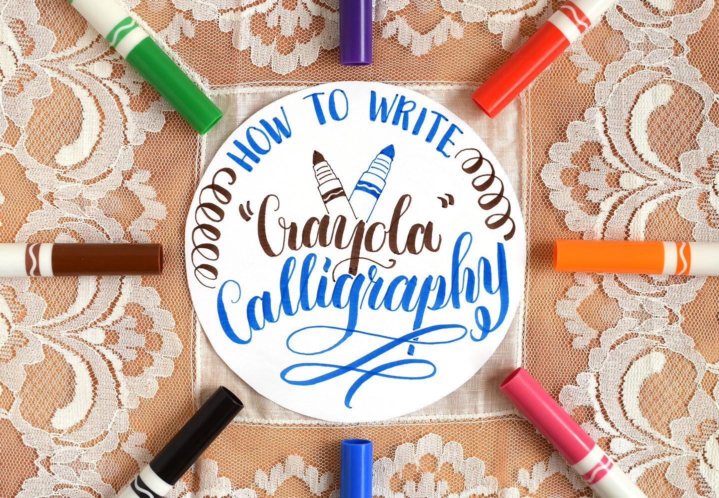 "How to Write ""Crayola"" Calligraphy | The Postman's Knock"