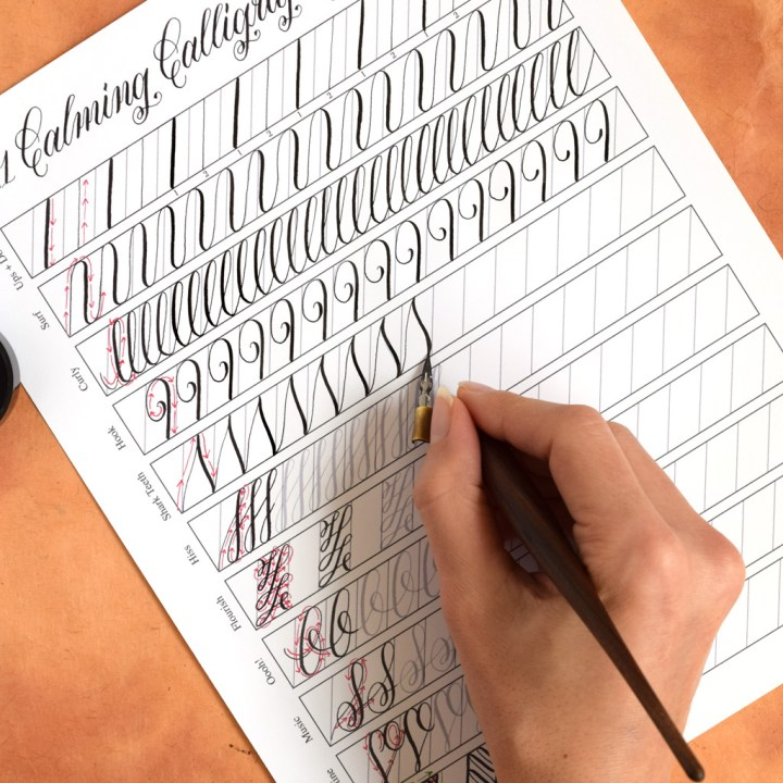 """11 Calming Calligraphy Drills"" Printable | The Postman's Knock"
