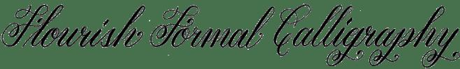 Flourish Formal Style Calligraphy