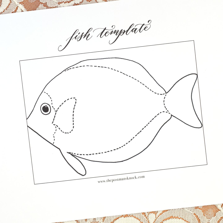 Printable Fish Template The Postmans Knock