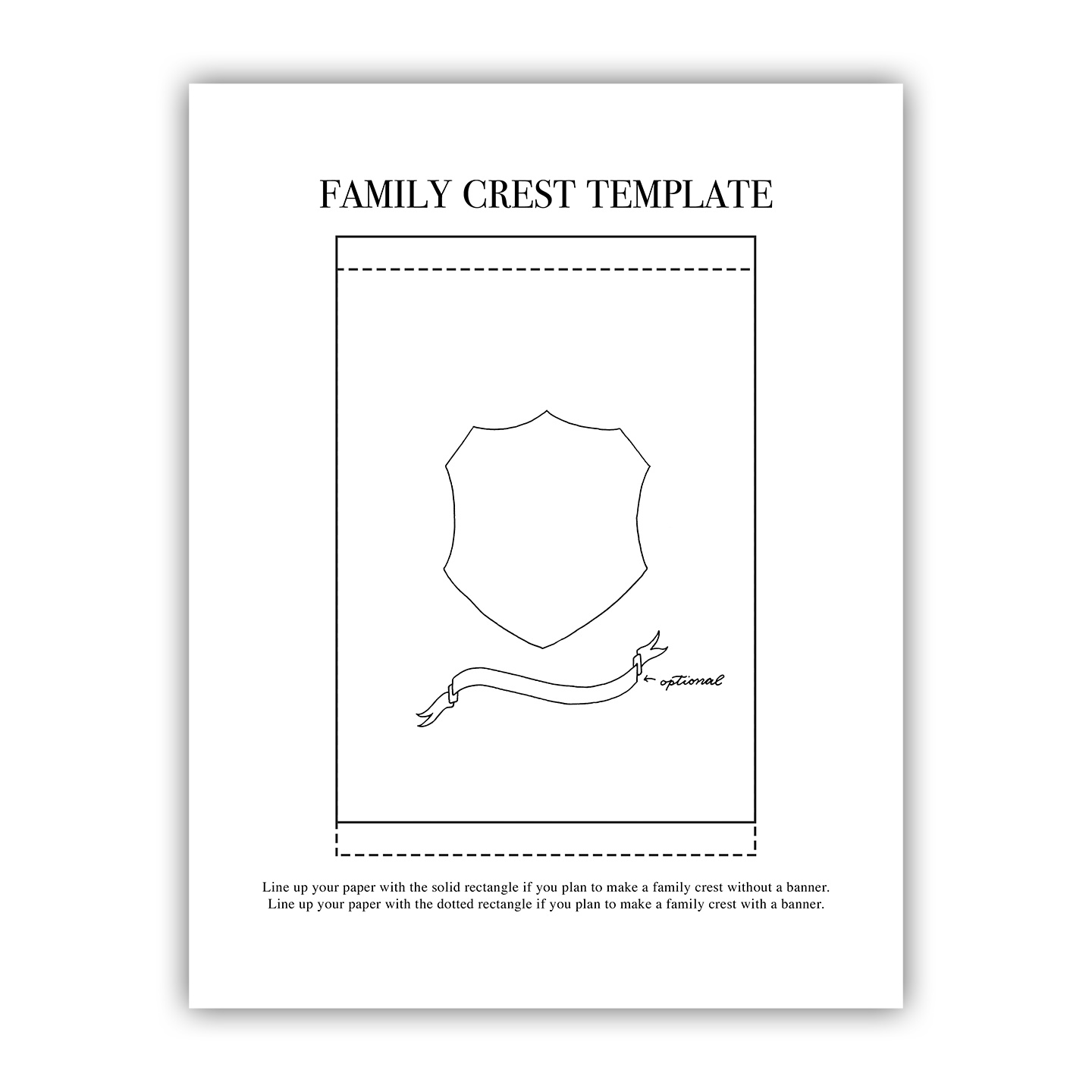 printable family crest template the postman s knock