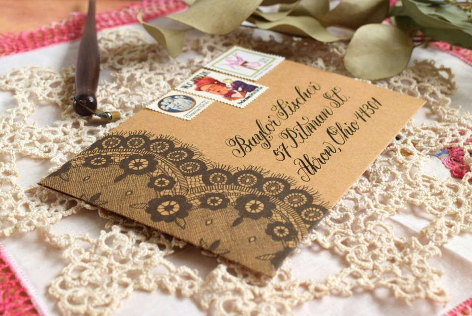 Lacy Envelope Template | The Postman's Knock