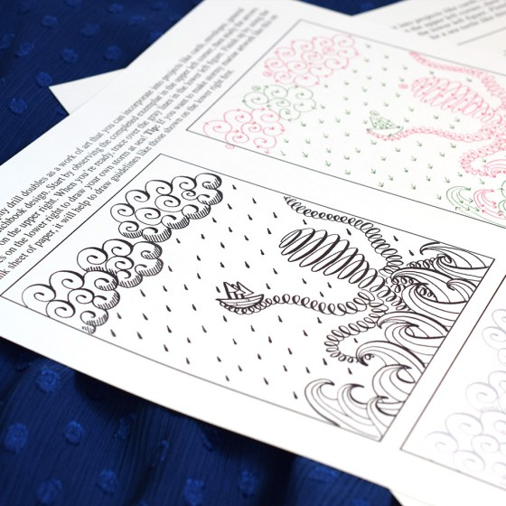 Not Your Average Calligraphy Drills: Under the Sea Edition
