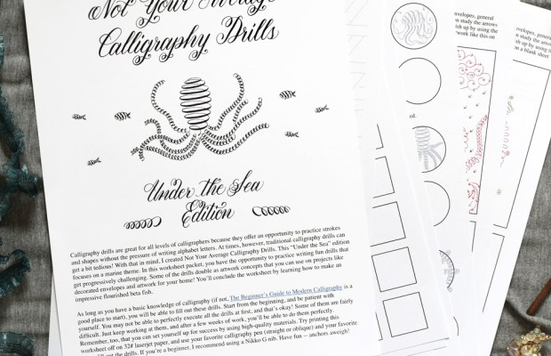 Not Your Average Calligraphy Drills: Under the Sea Edition   The Postman's Knock