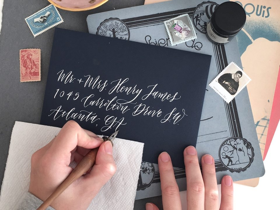 5 Tips for Creating Left-Handed Calligraphy (From a Lefty!) | The Postman's Knock