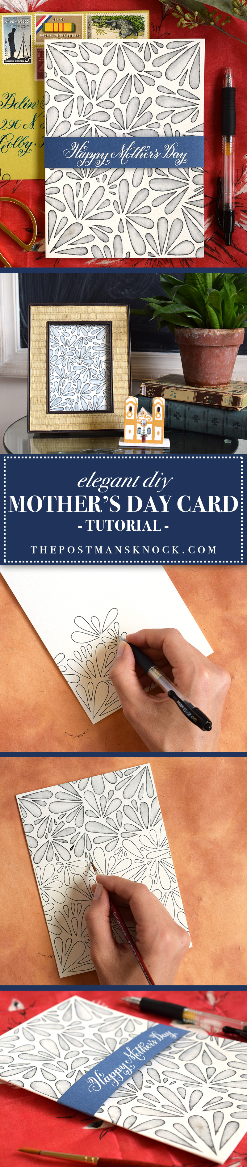 Elegant diy mother 39 s day card tutorial the postman 39 s knock for Classy mothers day cards
