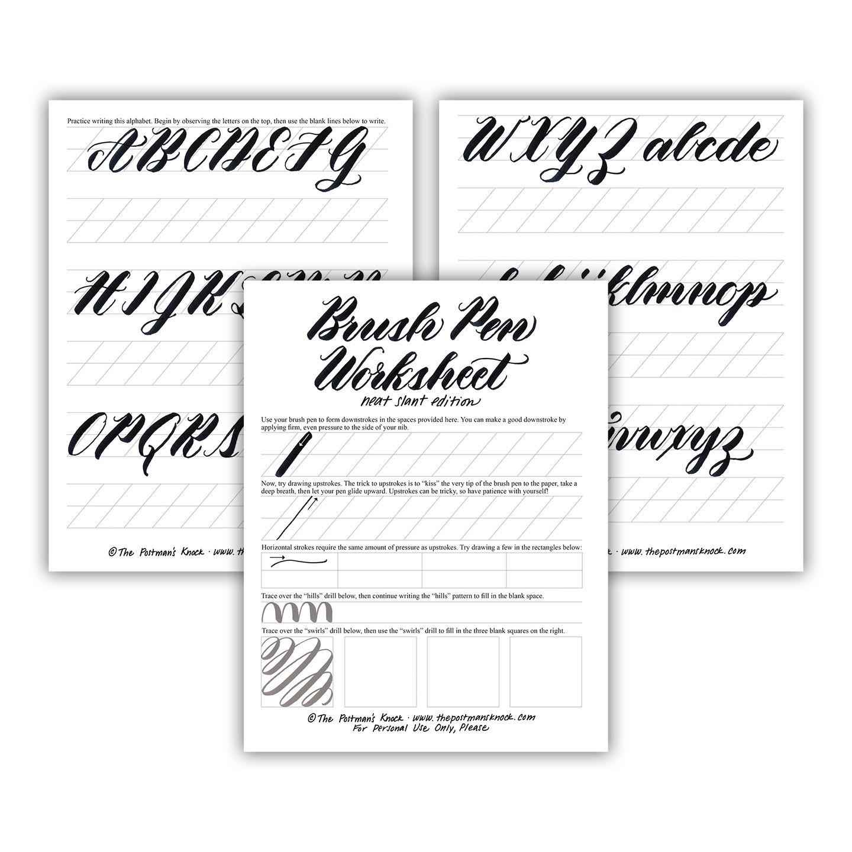 Easy Calligraphy Tracing Worksheet